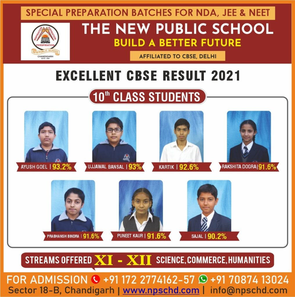 class 10th students excellent performance nda jee neet