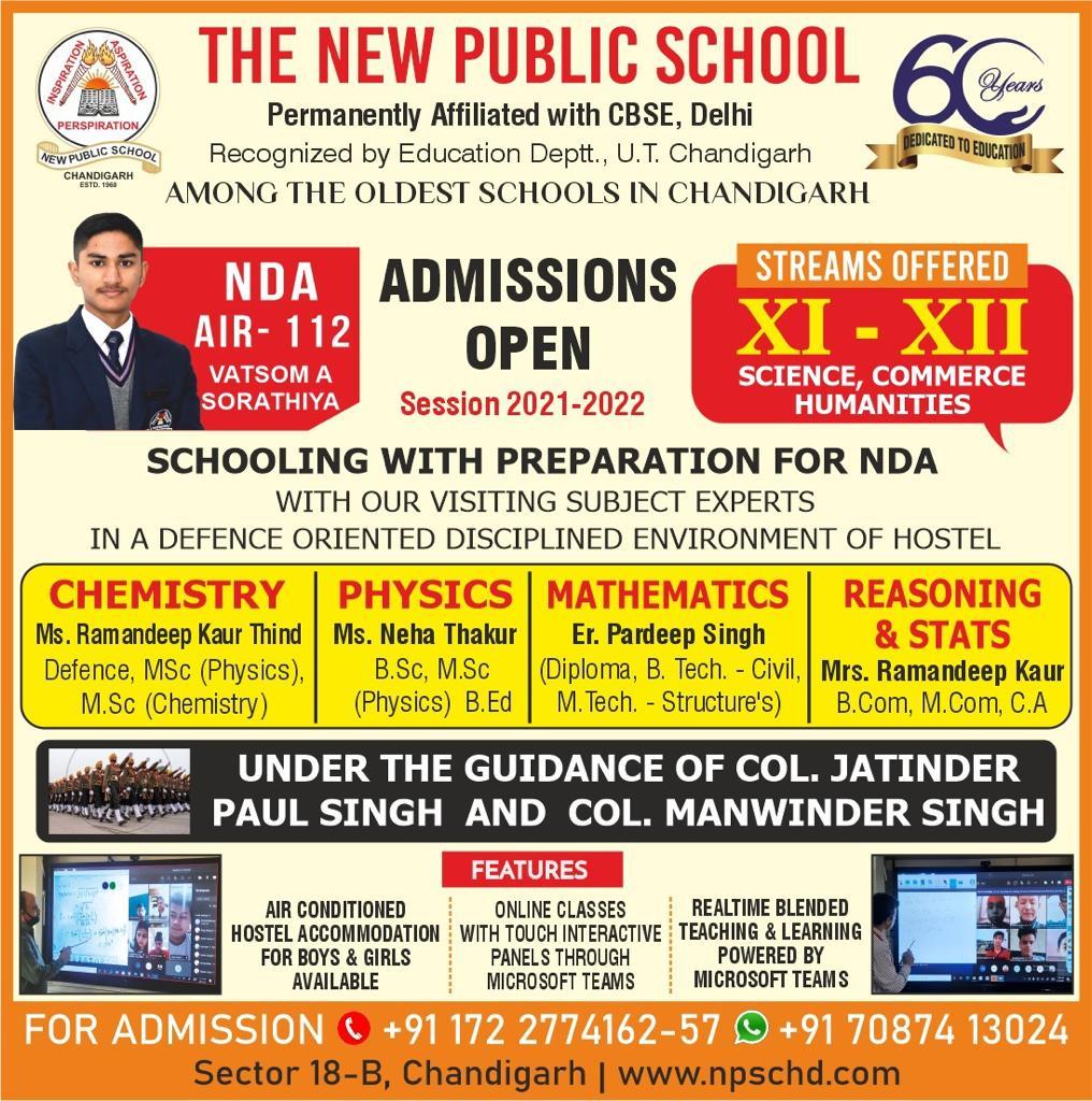 nda with schooling Chandigarh
